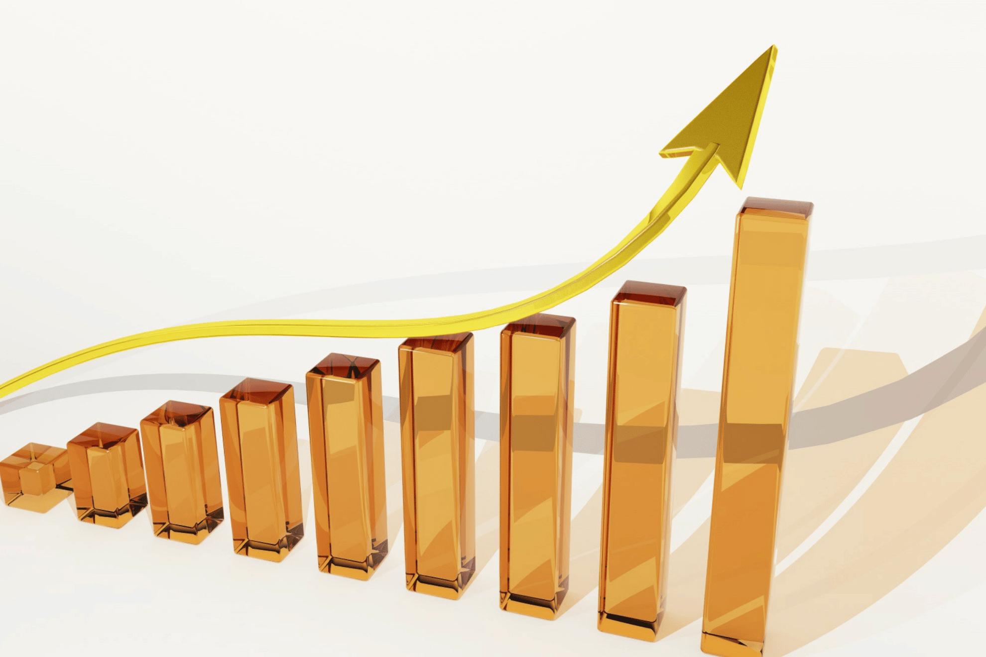 kuvituskuva verkkokaupan myynnin kasvusta