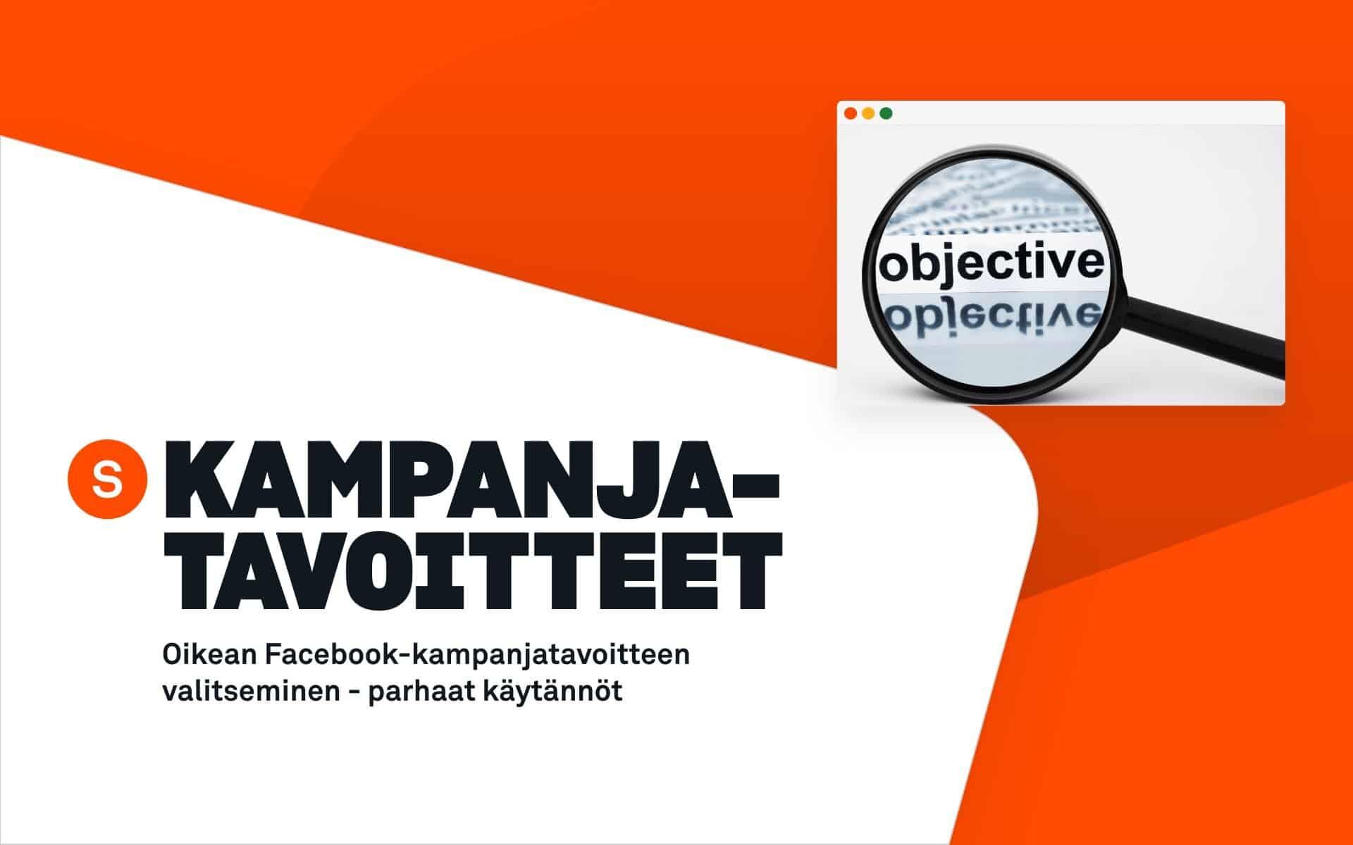 facebook-kampanjatavoitteen valinta