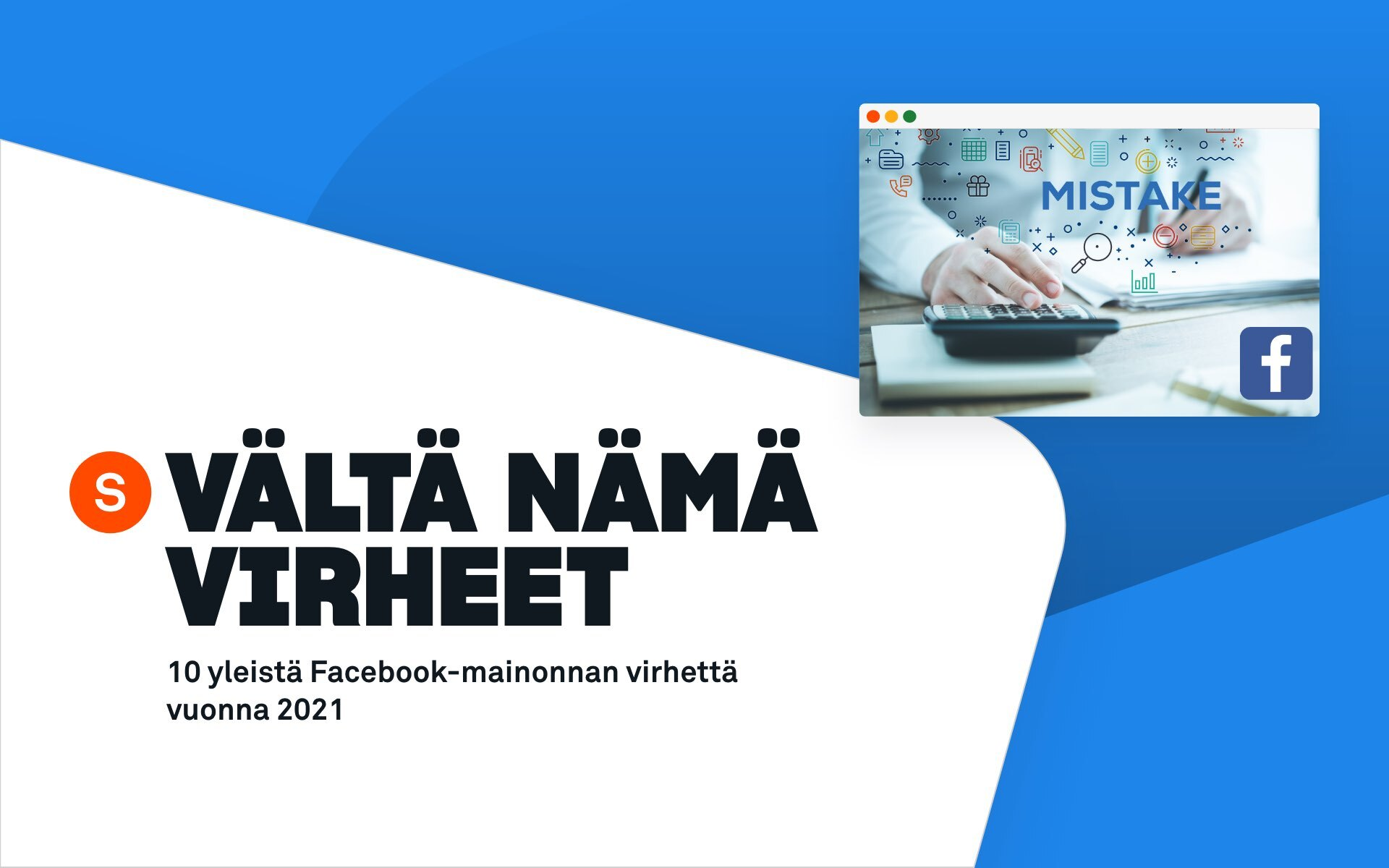facebook-mainonnan virheet